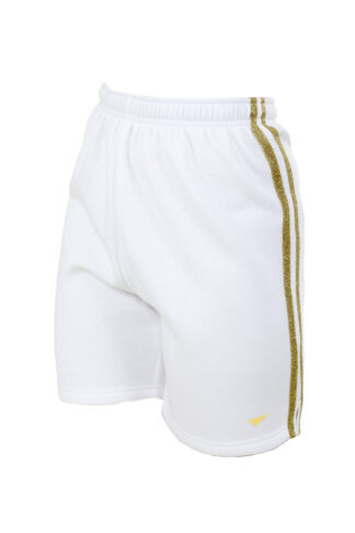 Sweats Of London Womens White Gold Stripes Sweat Shorts 2 1